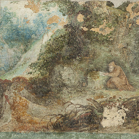 Image d'une partie des peintures murales à la Maison d'Erasme n°3